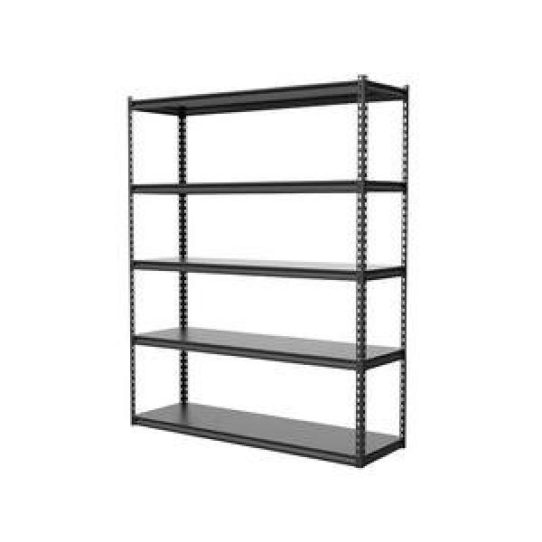 3 Layers Black Metal Wall Mounted Storage Rack Hanging Mail Sorter Commodity Shelf With 5 Key Hooks #3 image