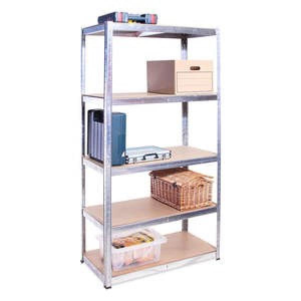 5 layers metal black racking shelf for storage with warehouse #2 image