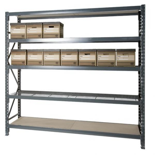 5 Shelf Welded Steel Garage Storage Shelving Unit with Wire Deck in Black #3 image