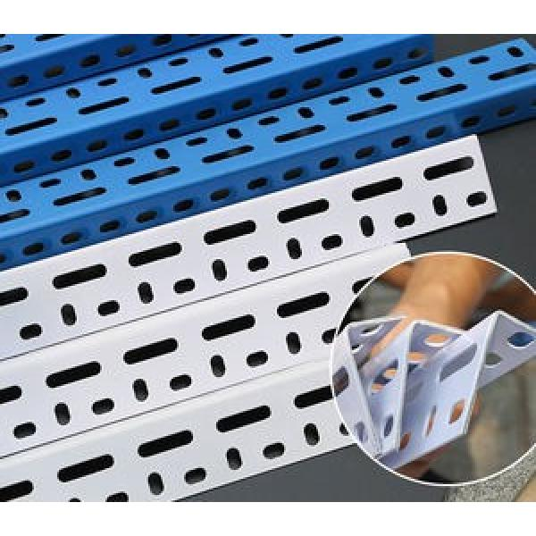 Best Price Punched Holes 35*35mm Equal Galvanized Slotted Angle Steel Bars For Storage Shelf #3 image