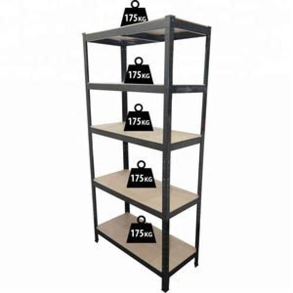 5 Tier Extra Wide Racking Garage Shelving Heavy Duty Industrial Steel & MDF Boltless Shelves or Workbench #1 image